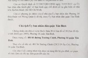 Dịch vụ xin số nhà ở Quận Tân Bình