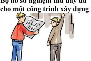 Hồ sơ nghiệm thu Công trình xây dựng nhà 7 tấm tại UBND Quận Tân Bình