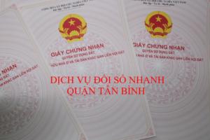 Dịch vụ đổi sổ nhanh Quận Tân Bình TpHCM