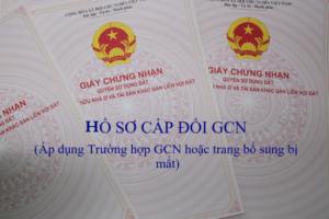 Hồ sơ cấp đổi GCN Quyền sử dụng đất, quyền sở hữu nhà ở và tài sản khác gắn liền với đất hoặc trang bổ sung bị mất tại Quận Tân Bình Tp.HCM